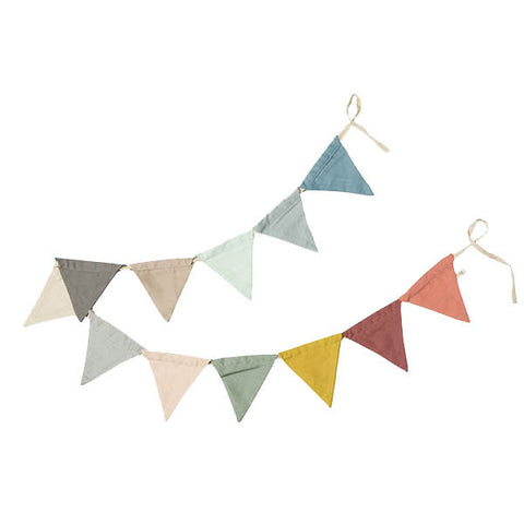 Organic Cotton Bunting - Multi Coloured