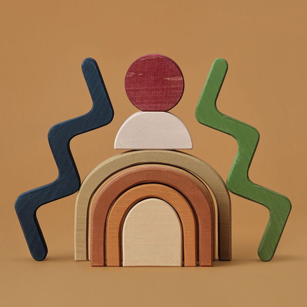 Wooden Shapes Building Block Set