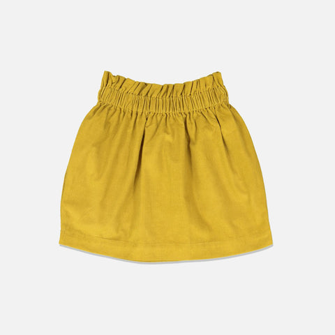 Cotton Simone Skirt - Curry - 3-8y