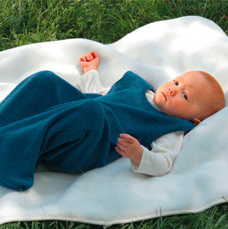 Organic Merino Wool Terry Sleeping Bag - Blue, Natural or Navy