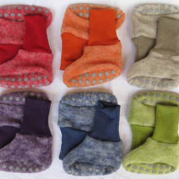 Merino Wool Booties - 0-12m