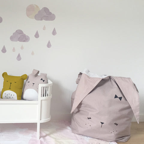 Organic Cotton Large Storage Bag - Bunny