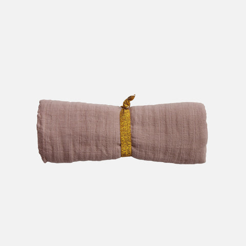 Organic Cotton Swaddle - Mauve