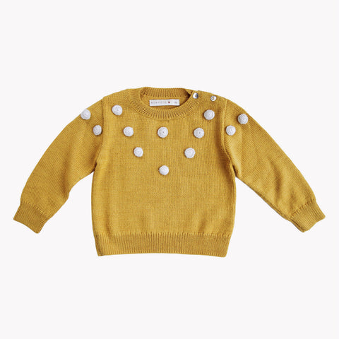 Alpaca Dots Sweater - Amber - 1-8y