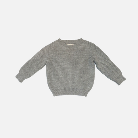 Alpaca Ben Sweater - Dove - 3-6y