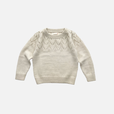 Exclusive Alpaca Magda Sweater - Ivory - 6m-8y