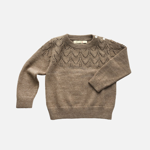 Exclusive Alpaca Magda Sweater - Pebble - 6m-8y