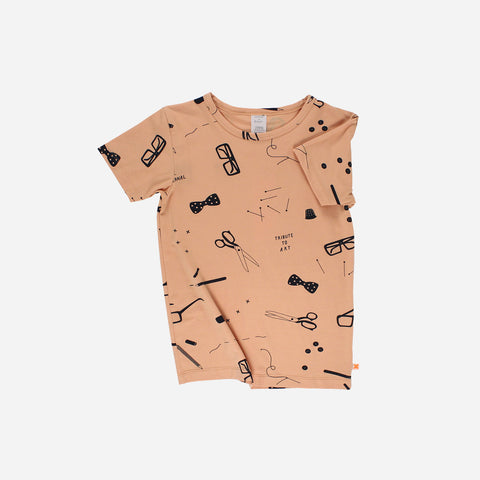 Pima Cotton Tailor's Tee - Nude - 2-8y