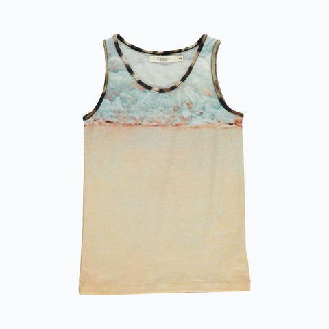 Organic Cotton Tank Top - Sea - 18m-8y