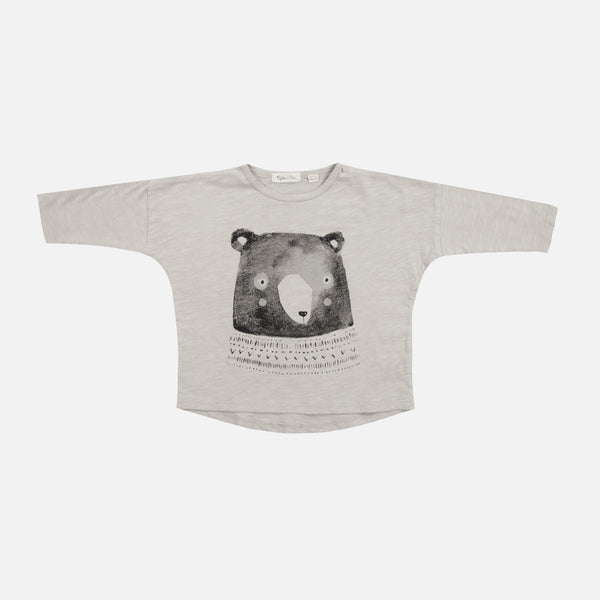 Mr. Bear LS Tee - Dove - 18m-5y