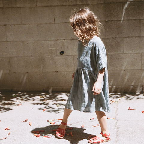 Cotton Una Dress - Grey - 2-8y