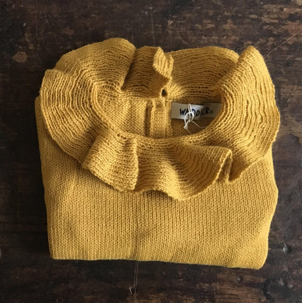 Alpaca Pierrot Jumper - Yellow - 6m-4y