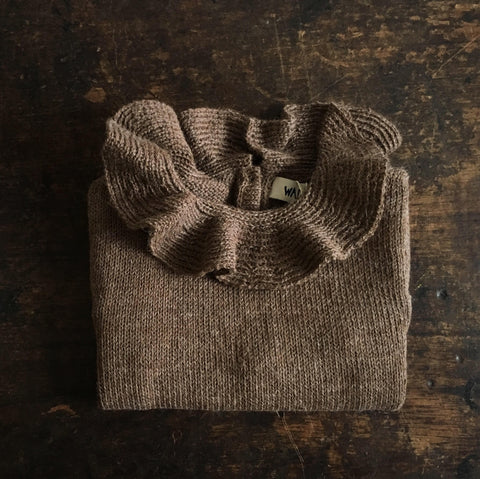 Alpaca Pierrot Jumper - Brown - 3m-8y