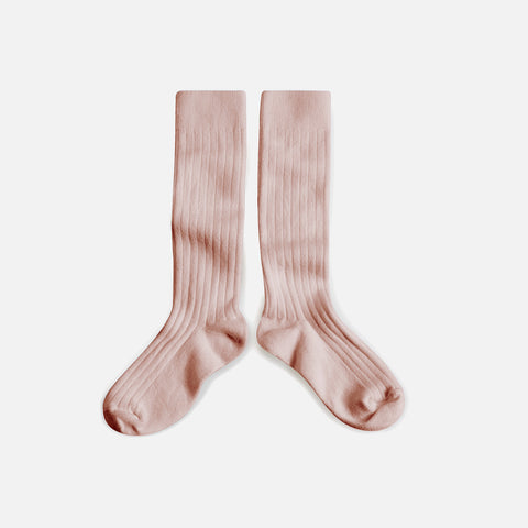 Babies & Kids Cotton Knee Socks - Old Rose - 1-12y