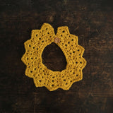 Alpaca Crochet Ran Collar - Natural, Grey or Mustard - 0-6y