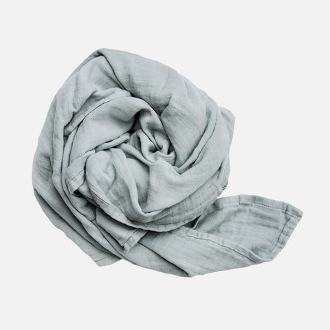 Organic Cotton Swaddle - Foggy Blue