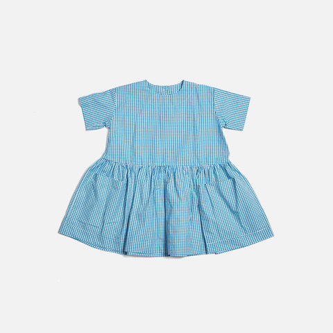 Pocket Dress SS - Blue Gingham - 18m-8y