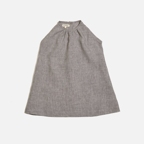 Linen Pocket Dress Sleeveless - Mini Check - 18m-12y