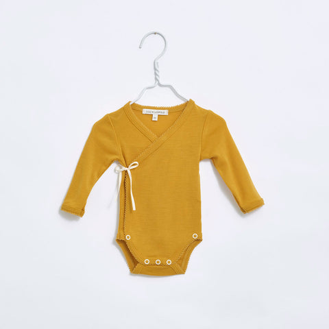 Organic Merino Wrap Body - Gold - 0-12m
