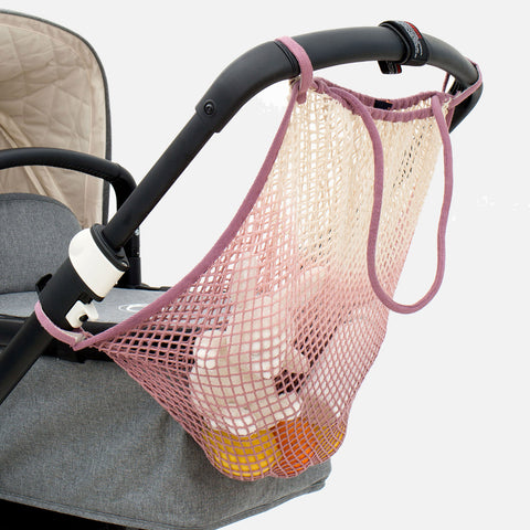 Cotton Stroller Net - Dip Dye Rose