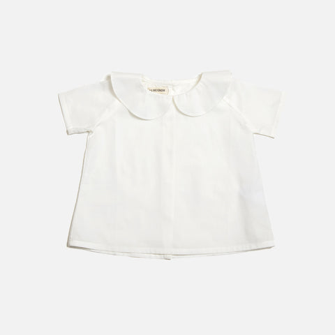 Cotton Peter Pan Shirt SS - White - 6m-8y