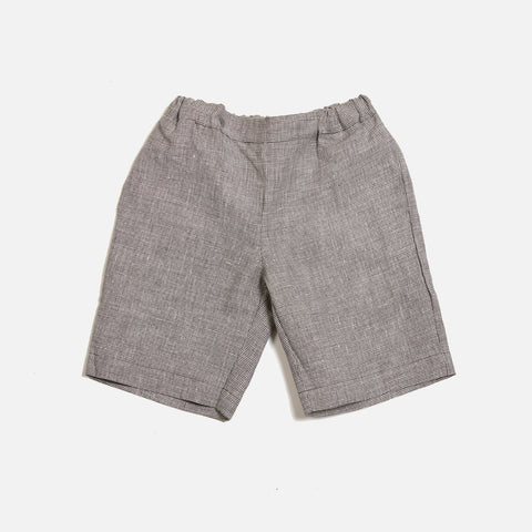 Linen Shorts - Mini Check  - 6m-5y