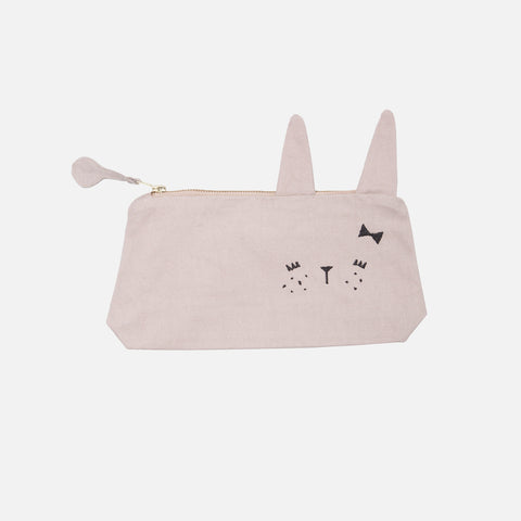 Organic Cotton Pencil Case - Cute Bunny