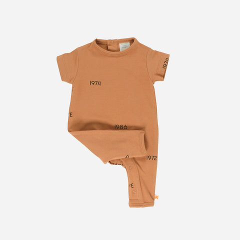Pima Cotton Years Romper - Dark Peach - 3-18m