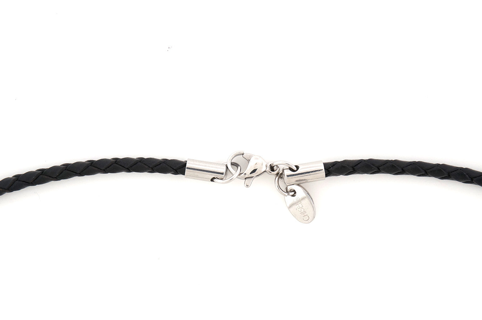 Chisel - Genuine Leather Weave Necklace w/ Stainless Steel Lobster Clasp - 3.0mm