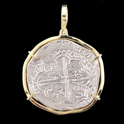 Atocha Jewelry - Extra Large Potosi Silver Coin Pendant Front