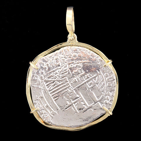 Atocha Jewelry - Extra Large Potosi Silver Coin Pendant Back