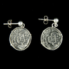 Atocha Jewelry - 1 Reale Silver Coin Earrings Front