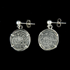 Atocha Jewelry - 1 Reale Silver Coin Earrings Back