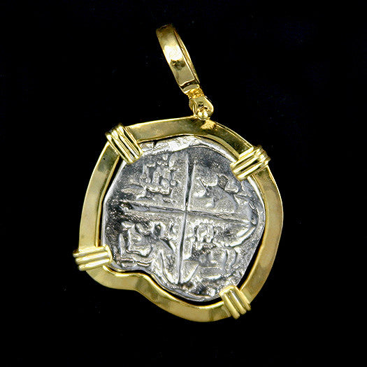 Atocha Jewelry - Large Museum Reale Silver Coin Pendant - Front