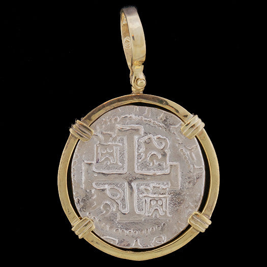 Atocha Jewelry - 8 Reale Silver Coin Pendant Front