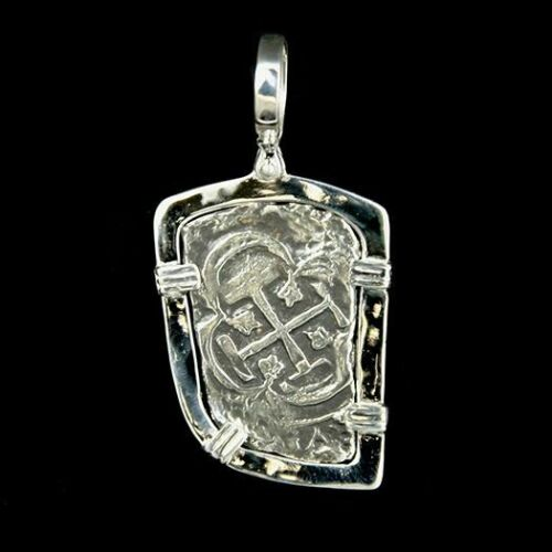 Atocha Jewelry - Long 8 Reales Silver Coin Pendant
