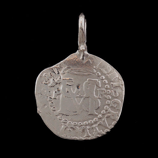 Atocha Jewelry - Pieces of 8 Small Silver Coin Pendant Front