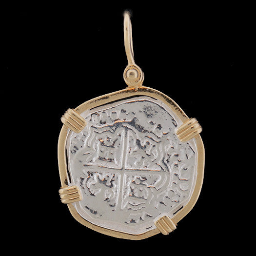 Atocha Jewelry - Medium Pieces of 8 Silver Coin Pendant Front