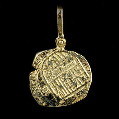 Atocha Jewelry - Piece of Two Gold Coin Pendant Back