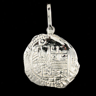 Atocha Jewelry - Piece of 4 Silver Coin Pendant Back