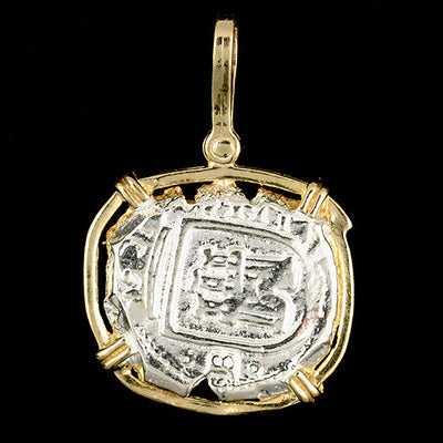 Atocha Jewelry - Dated Lion Silver Coin Pendant Back