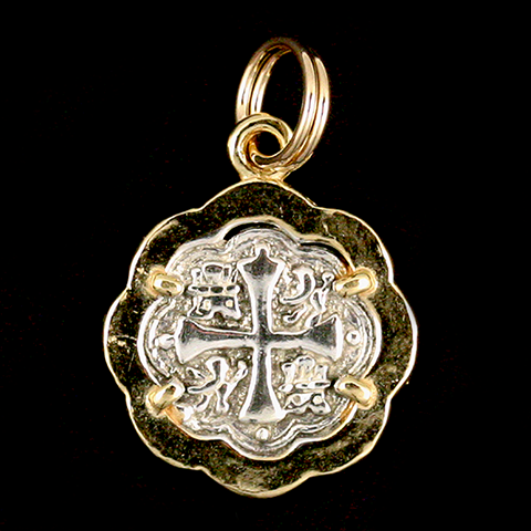 Atocha Jewelry - Small Pillar Silver Coin Pendant Front