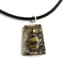 Tessoro Necklace - Natural Birchbark, Hand Hammered Copper, Tiger Eye and Freshwater Pearl