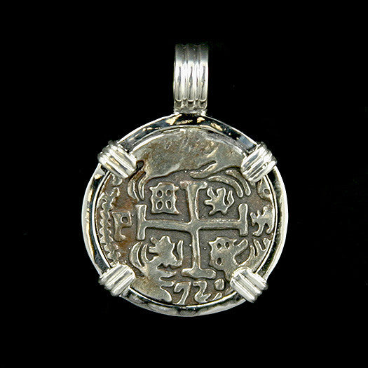 Atocha Jewelry - 4 Reale Silver Coin Pendant Front