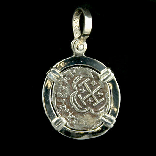 Atocha Jewelry - 1 Reale Silver Coin Pendant Front
