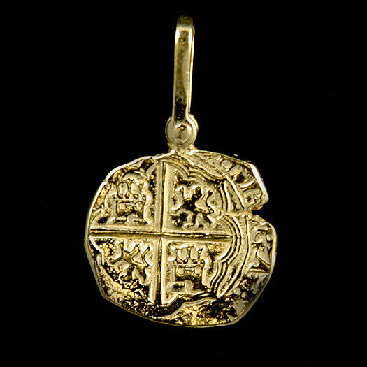 Atocha Jewelry - Piece of Two Gold Coin Pendant Front