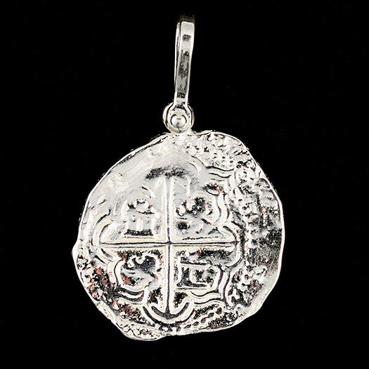 Atocha Jewelry - Piece of 4 Silver Coin Pendant Front