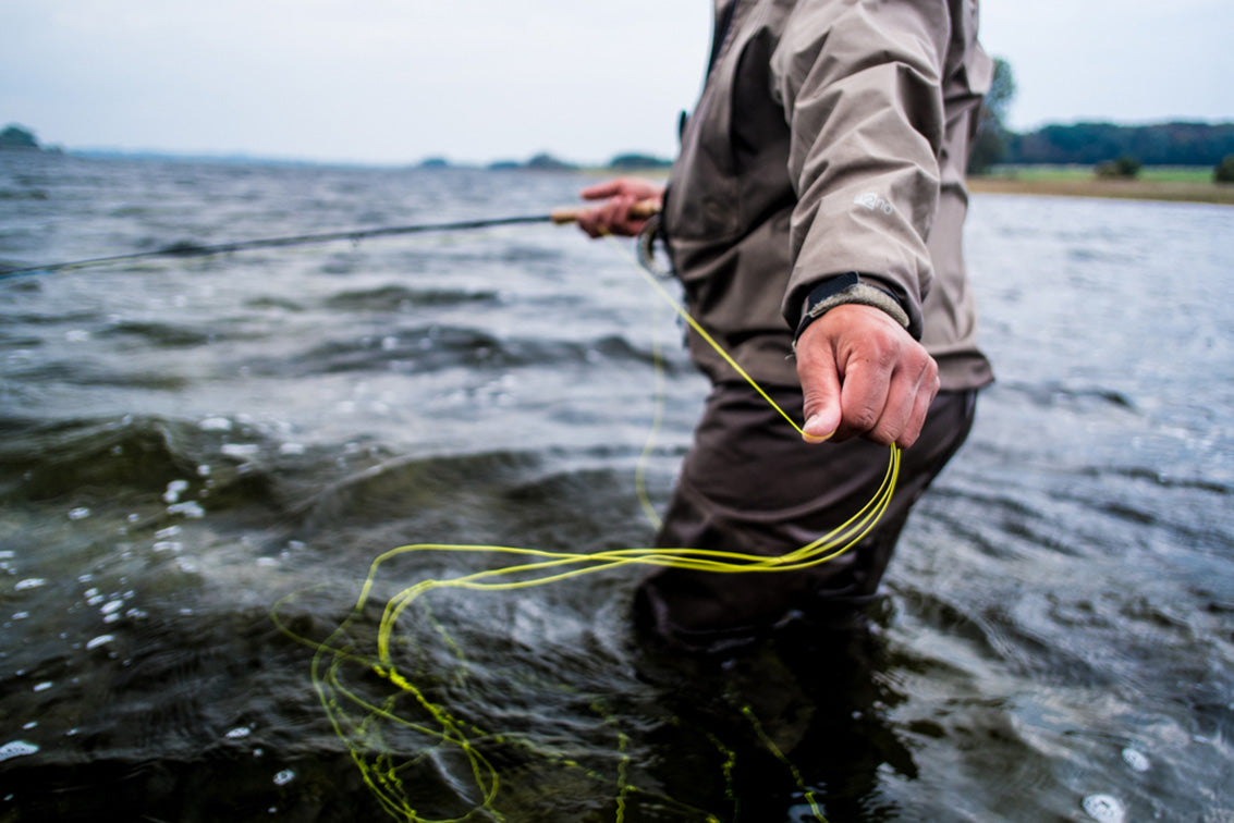 fly fishing taking line