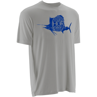 Huk Distressed Sailfish SW Logo Tee