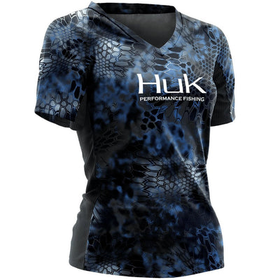 Huk Kryptek Ladies Short Sleeve ICON